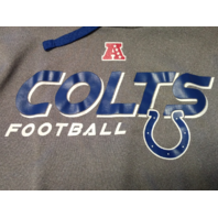 NFL Team Apparel Blue & Gray Indianapolis Colts Pullover Hoodie Football Unsized
