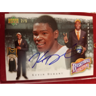 KEVIN DURANT 2007-08 Upper Deck NBA Heroes Rookie Autograph #KD-2 auto RC /5