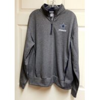 Dallas Cowboys Authentic Heather Gray 1/4 Zip Pullover Jacket Size M Medium