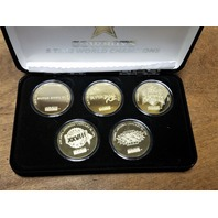 Highland Mint Dallas Cowboys Gold 5-Time Super Bowl Champions 5 Coin Set W/ COA