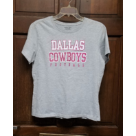 RBK Women's Gray Dallas Cowboys T-Shirt Pink Glitter Size XL