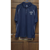 Dallas Cowboys Authentic Apparel Navy Blue Polo Shirt Men's Size L