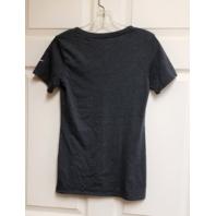 Athletic Cut Dallas Cowboys Dark Gray V-Neck Cap Sleeve T-Shirt Women's Size XS