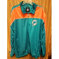 G-III Apparel MIAMI DOLPHINS Full Zip Windbreaker Jacket Size XXL 2XL NFL