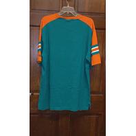 RBK Teal Green Miami Dolphins Shirt Top Men's Size XL Football