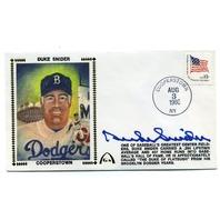 1980 Duke Snider Signed Autographed Cachet Cover FDC Envelope JSA COA