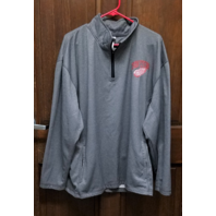 Knight's Apparel Gray Detroit Red Wings 1/4 Zip Jacket Men's Size XL NHL