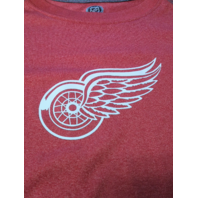 Knight's Apparel Red & Gray Detroit Red Wings Athletic Shirt Size L NHL Hockey