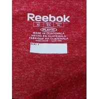 Reebok PlayDry Red Detroit Red Wings Athletic Shirt Size XL NHL Hockey