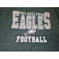 NFL Team Apparel Philadelphia Eagles Green Graphic T-Shirt Size L Football