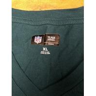 NFL Team Apparel Philadelphia Eagles Teal Green Graphic T-Shirt Women's Size XL