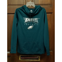 Majestic ThermaBase Philadelphia Eagles Pullover Hoodie Jacket Teal Green Size L