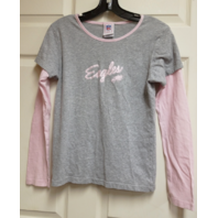 NFL For Her Philadelphia Eagles Pink & Gray Layered T-Shirt Womens Size L