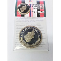 Vanguard Northwest Territorial Mint OPERATION ENDURING FREEDOM VETERAN Coin