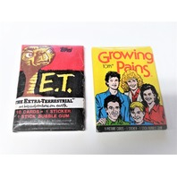 Vtg Topps Trading Cards 1982 E.T. Wax Pack & 1988 Growing Pains Wax Pack