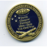 First US Navy Admiral David Glasgow Farragut Commemorative Challenge Coin