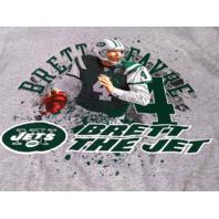 Reebok Gray New York Jets Brett Favre Brett The Jet T-Shirt Size M NFL NWT