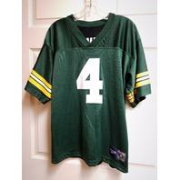 Vintage Reversible Brett Favre #4 Jersey Shirt Green/Black Men's Size M