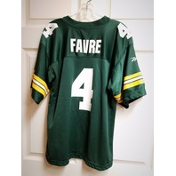 Vintage Reversible Brett Favre #4 Jersey Shirt Green/Black Men's Size M