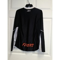 Reebok Women's Philadelphia Flyers Black & Silver Shirt Jersey Size S NHL Hockey
