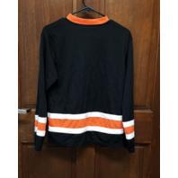 NHL Official Philadelphia Flyers Black Shirt Jersey Youth Size XL 14/16