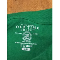 Old Time Hockey Green Philadelphia Flyers T-Shirt Distressed Graphics Youth XL