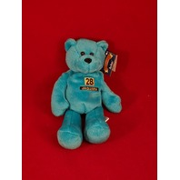 Limited Treasures Fred Taylor #28 Teal Blue Beanie Plush Bear Jaguars NFL NWT