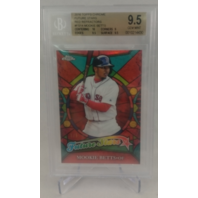 2016 Topps Chrome Future Stars Red Refractors Mookie Betts 1/5 Graded 9.5