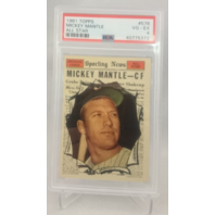 1961 Topps Mickey Mantle All-Star #578 VG-EX PSA 4 HOF NY New York Yankees