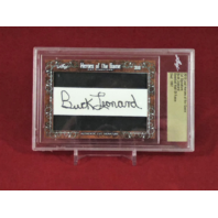 2018 Leaf Heroes Of The Game Cut Signature BUCK LEONARD Baseball HOF Auto