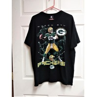 NFL Team Apparel Black Green Bay Packers Graphic T-Shirt Size XL Football