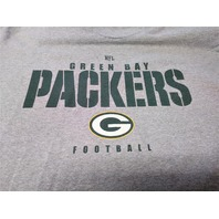 NFL Team Apparel Gray Green Bay Packers Long Sleeve T-Shirt Size M Football