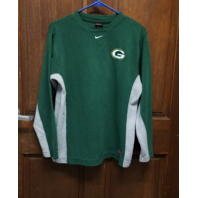 Green Bay Packers Ribbed Long Sleeve Shirt Green & Gray Size 20/XL NFL