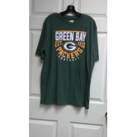 NFL Team Apparel Green Bay Packers Green Graphic T-Shirt Size L Football NWOT