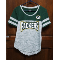 NFL Team Apparel Women's Green Bay Packers Green Colorblock T-Shirt Size L NWT