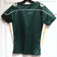 NFL Team Apparel Womens Green Bay Packers Green Lace Up V-Neck Shirt Size L