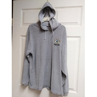 True Fan Green Bay Packers Gray Fleece Pullover Hoodie Size M Football