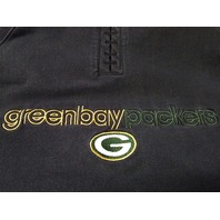 Reebok RBK Green Bay Packers Women's Black Stretch Pullover Hoodie Size L