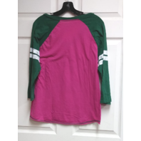 G-III NFL Pink & Green Bay Packers 3/4 Sleeve V-Neck T-Shirt  Womens Size XL