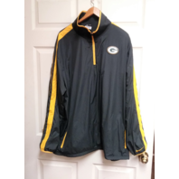 NFL Onfield Apparel Green Bay Packers Gray 1/4 Zip Pullover Jacket Size XXL 2XL