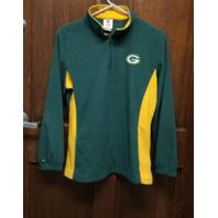 NFL Team Apparel Green Bay Packers Fleece 1/4 Zip Pullover Jacket Womens Size L