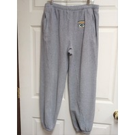 NFL Green Bay Packers Gray Fleece Sweatpants Jogging Pants Size L Football