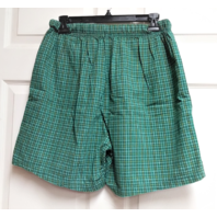 NFL Green Plaid Cotton Green Bay Packers Shorts Size L Football