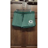 NFL Team Apparel Green Bay Packers Sleep Shorts Women's Size XL Football