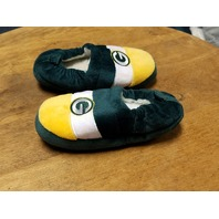 Foco Green Bay Packers Fuzzy Slippers Toddler Child Size M
