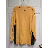 NFL Yellow Green Bay Packers Long Sleeve Shirt Tee Men's Size XL Football