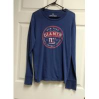 Campus Crew Athletics Blue New York Giants Long Sleeve Shirt Size L Football
