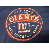 Campus Crew Athletics Blue New York Giants Long Sleeve Shirt Size L Football