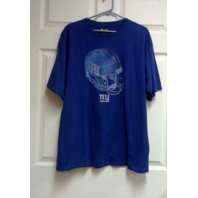 NFL Team Apparel Blue New York Giants T-Shirt Helmet Design Size XL Football