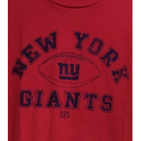 NFL Team Apparel Red New York Giants Graphic T-Shirt Size XL Football